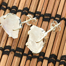 Earrings raw moonstone Ag 925/1000