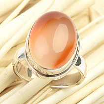 Carnelian oval ring size 52 Ag 925/1000 6.9g