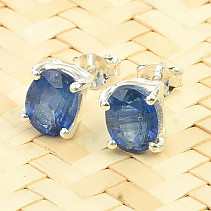Kyanite disten earrings oval standard cut Ag 925/1000