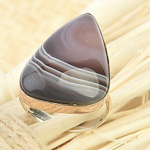 Agate ring 6.9g size 56 Ag 925/1000