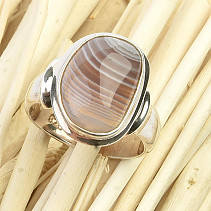 Agate silver ring size 53 Ag 925/1000 7,2g