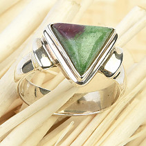 Ruby ring in zoisite Ag 925/1000 6.1g size 56