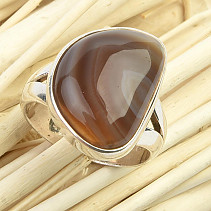 Agate ring Ag 925/1000 7,4g (size 55)