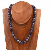 Necklace amethyst beads 10mm 45cm