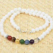 Quartz necklace and chakra stones 51cm