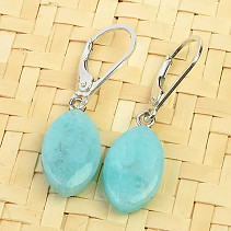 Amazonite smooth earrings Ag 925/1000 2.9g