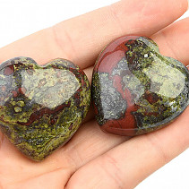 Dragon stone smooth heart 35mm