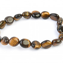 Tiger eye smooth bracelet