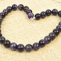Amethyst ball necklace 14mm 48cm