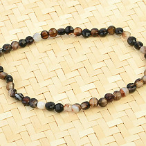 Botswana agate bracelet coin facet 4mm