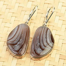Agate earrings silver Ag 925/1000 10,1g