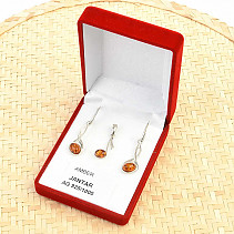 Silver set with amber Ag 925/1000