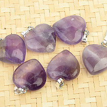 Amethyst pendant heart shape jewelry handle