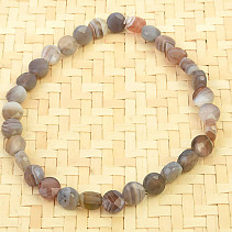Agate gray facet money bracelet