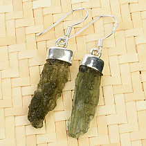 Earrings natural moldavite Ag 925/1000 3,5g