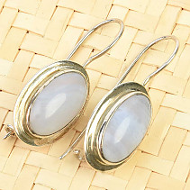 Dangling earrings chalcedony Ag 925/1000