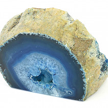 Agate geode in blue color 511g
