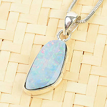Expensive opal silver pendant Ag 925/1000 2.7g