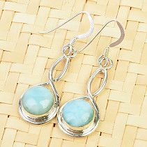 Larimar dangling decorated with earrings Ag 925/1000