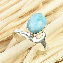 Ring with oval larimar Ag 925/1000