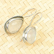 Moonstone dangling earrings Ag 925/1000 6.0g