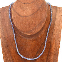 Tanzanite necklace cut button Ag fastening