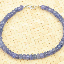 Tanzanite button bracelet 5mm Ag fastening