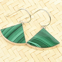 Earrings malachite Ag 925/1000 7,1g