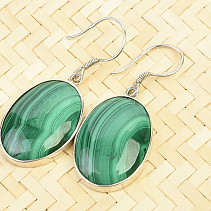 Malachite oval earrings Ag 925/1000 9.5g