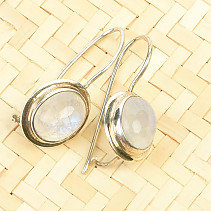 Earrings moonstone oval Ag 925/1000 3.8g
