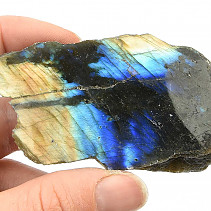 Polished and natural stone labradorite 92g