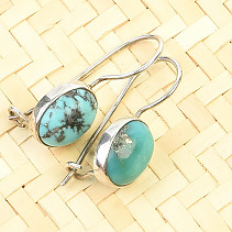 Turquoise dangling earrings Ag 925/1000 2,4g