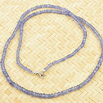 Tanzanite cut necklace Ag clasp