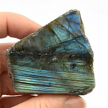 Polished and natural stone labradorite (89g)