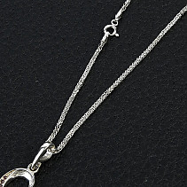 Knitted silver chain Ag 925/1000 + Rh 45cm (approx. 3,0g)