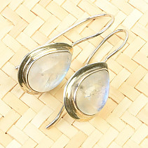 Moonstone dangling earrings Ag 925/1000 5.4g
