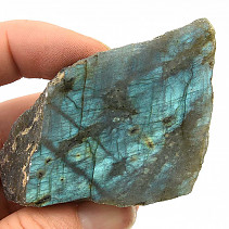 Polished and natural stone labradorite (77g)