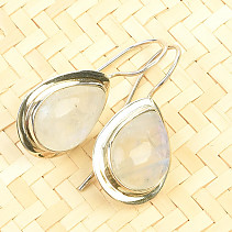 Moonstone earrings drop Ag 925/1000 7.2g