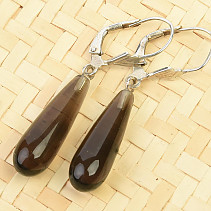 Smoky dangling earrings Ag hooks
