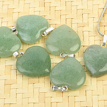 Aventurine heart pendant Ag handle