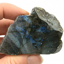 Polished and natural stone labradorite (111g)
