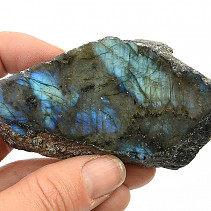 Polished and natural stone labradorite 108g