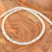 Moonstone necklace Ag fastening cut lens