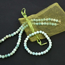 Calcite green ball set 6mm (45cm + uni)