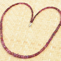 Ruby necklace buttonhole cut Ag fastening