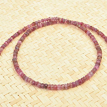 Necklace ruby buttons cut Ag fastening