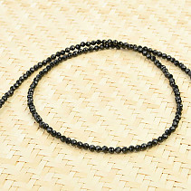 Black spinel necklace cut Ag clasp
