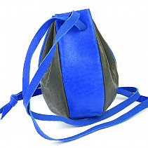 Blue-gray leather bag