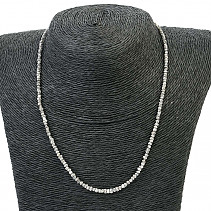 Necklace made of natural diamond Ag clasp