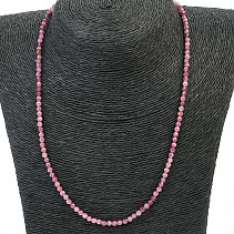 Tourmaline pink necklace cut Ag fastening